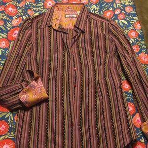 Ralph Lauren striped and paisley buttondown